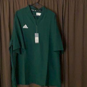 Adidas short sleeve 1/4 Zip pull over